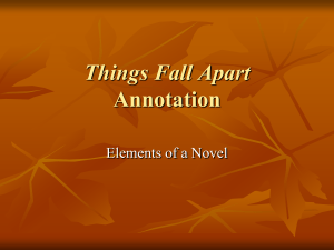 Things Fall Apart Annotation