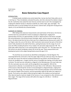 Bone Detective Case Report