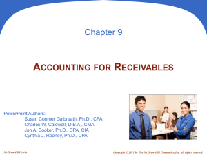 accounting for receivables - McGraw Hill Higher Education