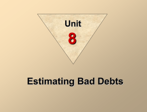 Estimating Bad Debts