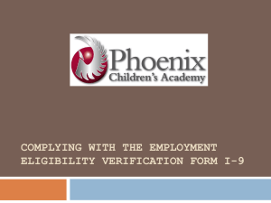 Complying with the Employment eligibility verification Form i-9