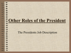 Other Roles of the President