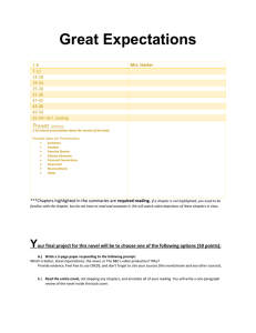 Great Expectations Unit Requirements