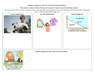 "Graphic Organizer for the ""Economizing Problem"" The need to make"