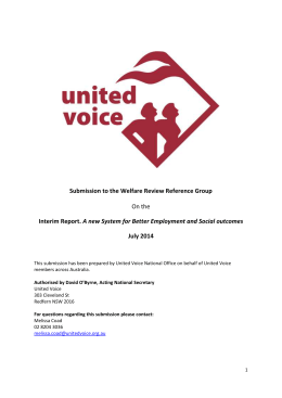 United Voice - Department of Social Services