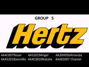 Hertz is an American car rental company with international locations
