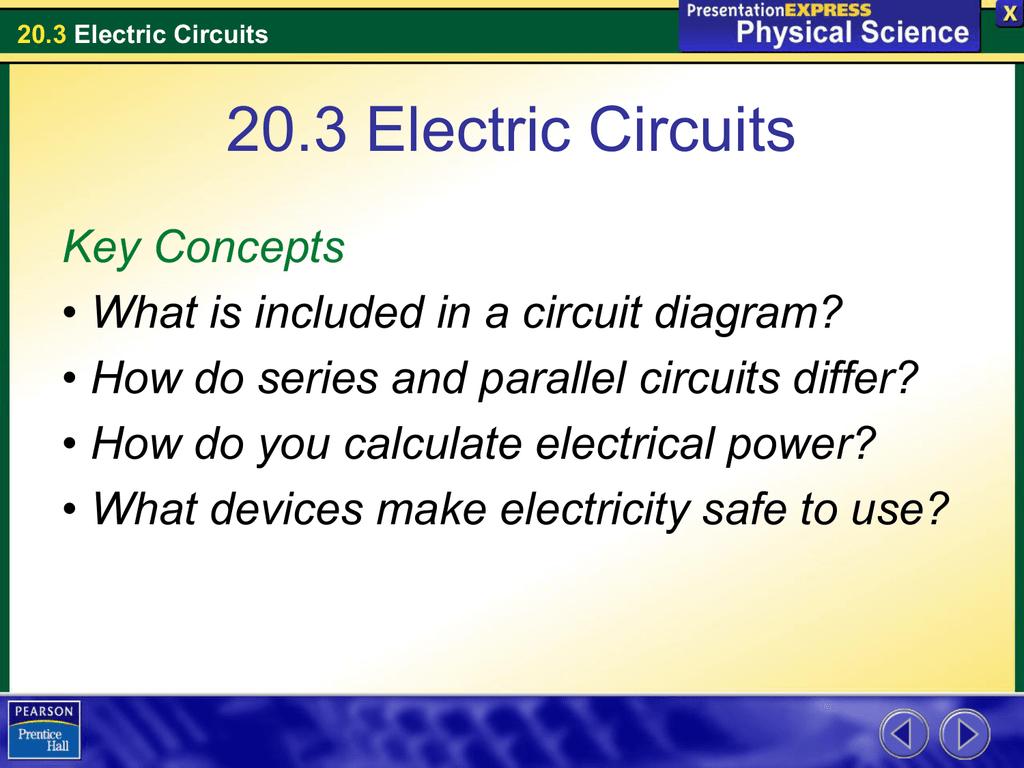 20.3 Electric Circuits