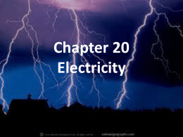 Chapter 20 Electricity - Mona Shores Public Schools