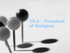 19.2 – Freedom of Religion