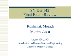 Final Review - Engineering
