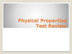 Physical Properties Test Review