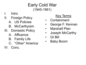 Early Cold War - West Shore Community College