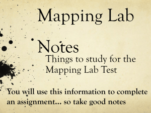 Mapping Lab Notes