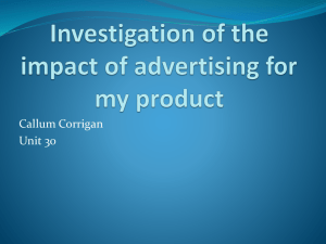 Investigation of the impact of advertising for my
