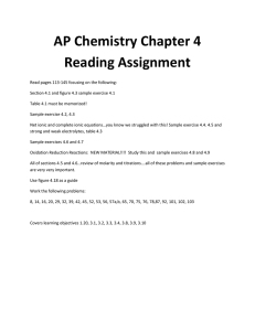 Chapter 4 Reading and Problem Set