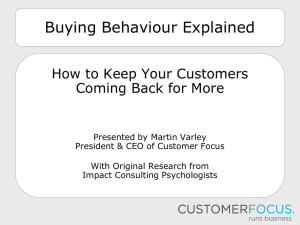 Buying Behaviour Explained - Impact Consulting Business