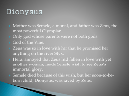 Dionysus-Pyramus and Thisbe