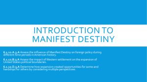 Introduction to Manifest Destiny PowerPoint