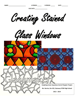 Stained Glass Graphing