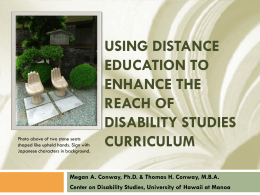 Using Distance Education to Enhance the Reach of