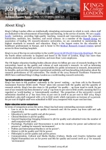 Academic and Research - King's College London