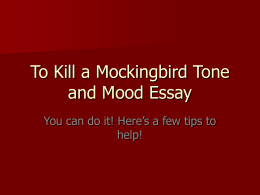 essay question on to kill a mockingbird To kill a mockingbird quiz that tests what you know perfect prep for to kill a mockingbird quizzes and tests you might have in school.