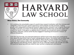 Harvard Law Classes