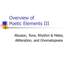 Overview of Poetic Elements III