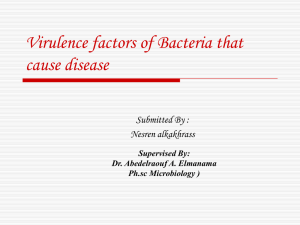 Virulence factors of Bacteria that cause disease