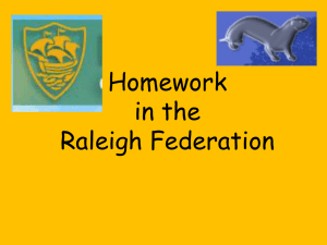 Homework Meeting Presentation (powerpoint file)