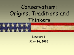 Conservatism: Traditions and Thinkers