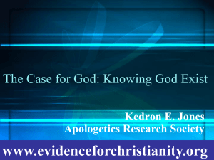 The-Case-for-God - Evidence for Christianity