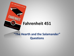 Fahrenheit     portrays an idea of how individuality can change how society views things and how people are different from each other  learning that society