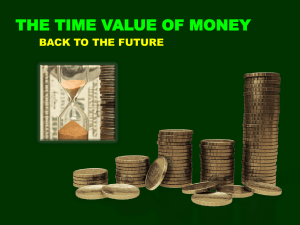 Day 7 The Time Value of Money