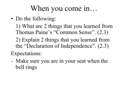 Chapter 3: Steps Leading to The Constitution
