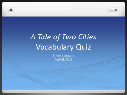 tale of two cities symbolism essay