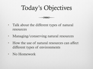 Section 4 Natural Resources