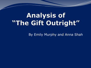 Analysis of *The Gift Outright