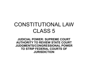 CONSTITUTIONAL LAW CLASS 5