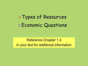 4 Types of Resources 3 Qs