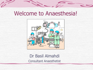What does the anaesthetist do?