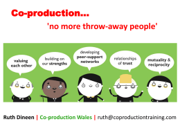 Co-production presentation WNA AGM May 2015