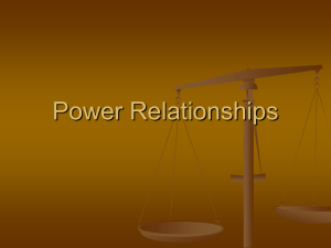 Power Relationships - Culture--per6