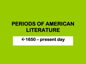 PERIODS OF AMERICAN LITERATURE Final Presentation.ppt