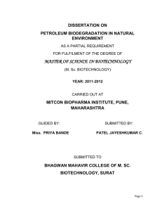 are identified which degraded petroleum in natural environments