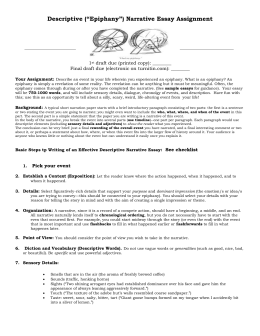 Narrative Or Descriptive Essayepiphany Narrative Essay Prompt Science In Daily Life Essay also How To Make A Thesis Statement For An Essay  Business Plan Writers Birmingham