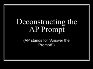 Link to Notes about the AP rhetorical analysis prompt