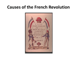 dbq 10 causes of the french revolution Ahmed el wakeel 2/10/2012  the french revolution was a phenomenon of  epic proportions that shaped the history of europe, the great europe that  these  causes are the ideological beliefs and economic needs  the french rev dbq .