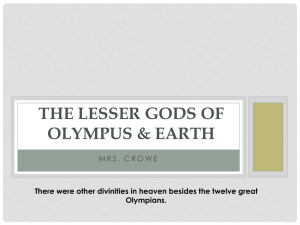 The Lesser Gods of Olympus
