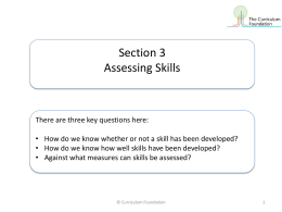 Assessing Skills 1 - National Union of Teachers